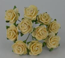 1.5cm IVORY Mulberry Paper Roses